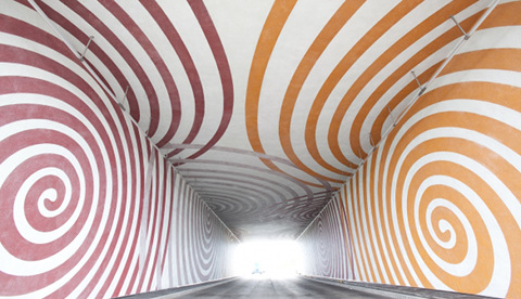 One Whirl underpass, Olympic Park. Pic: ODA
