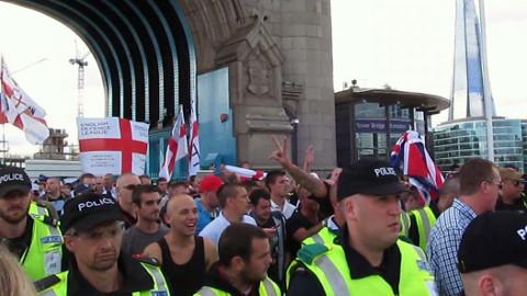 EDL protestors. Pic: David Holt