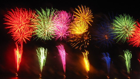 Colourful firework displays. Pic: Creative Commons