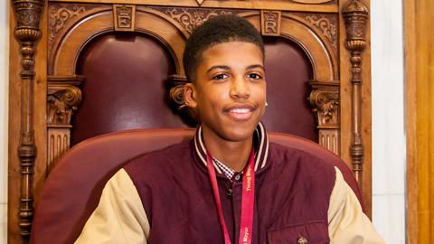 The current Young Mayor of Lewisham, Jamel Higgins. Pic: Lewisham Council.
