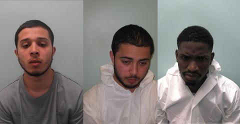 From left to right: Idir Brahimi, Amar Brahimi, Marvin Masangomai. Pic: Met Police