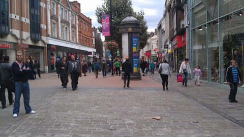 Croydon High Street isn't affected by the protest. Pic: Courtney Greatrex