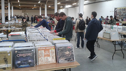 Brick Lane's vinyl fair. Pic: Kitty Knowles