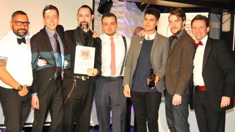 Bad Apple staff win two awards. Pic: Croydon BID