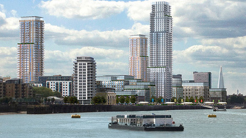 The proposed plan for the £1.9bn Convoys Wharf redevelopment. Pic: Hutchinson Whampoa