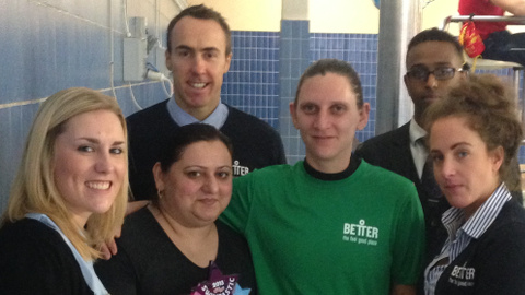 Staff from York Hall and on the Sport4Women Program. Pic: Jack Simpson