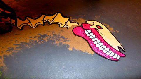 The work of Hackney street artist Sweet Toof. Photo: Matt Brown