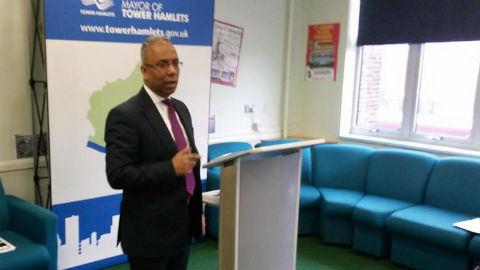 Mayor Rahman speaking at the event Pic: Jack Simpson