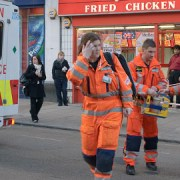 The arrival of three paramedics in Croydon after a stabbing. Pic: Bahi P