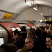 Commuters on the Tube. Pic: Tom Page