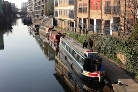 Houseboats along the canal at Hackney Wick. Pic: Rachael Pells