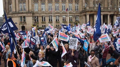NUT teachers go on strike today. Pic: Geoff Dexter