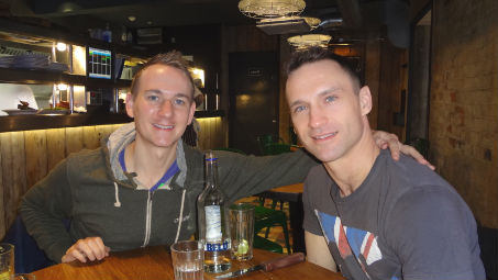 Tim Groves and Richard Jarmain. Pic: Tim Groves