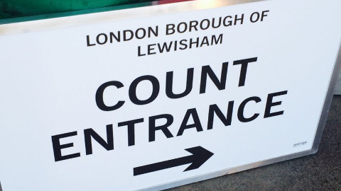 The count is underway here in Lewisham! Pic: Sandra Glab
