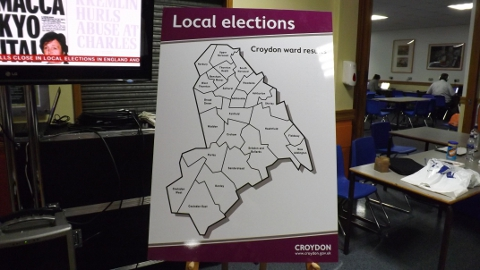 Map of Croydon Local Council Wards