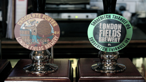 Ale Taps At London Fields Brewery