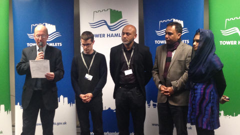Bromley South Ward Party Candidates, Tower Hamlets. Photo: Maria Levander