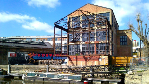 The creative centre is located in a warehouse by the river Lea. Photo: Trampery