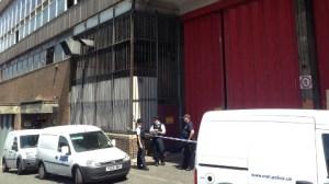 Police scene guard at site of Croydon rave