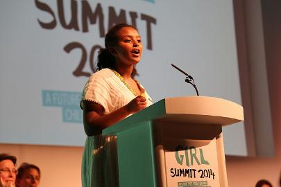 Hannah GodefaUNICEF National Ambassador for Ethiopia Pic:Marisol Grandon/Department for International Development