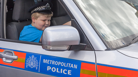 A young visitor to Lewisham police's open day