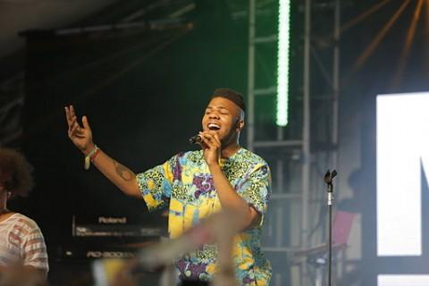 Lewisham based artist MNEK performing at Glastonbury Festival 2014  Pic:  Neal Whitehouse Piper