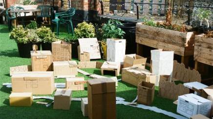 Urban Garden Dalston 'Cardboard Community' Pic: Jimena Marseillan