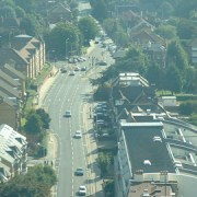A photo of the view from Croydon from Croydon Council building - East London Lines