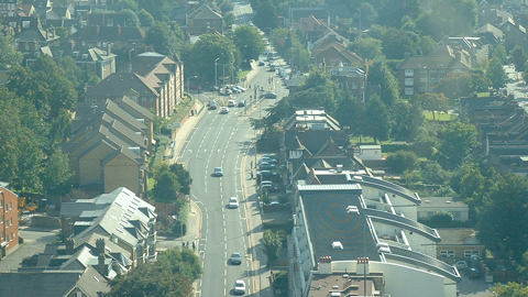 A photo of the view from Croydon from Croydon Council building - by Southeastern Star on East London Lines