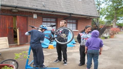 YLP bike workshop Pic: Dave Newman.