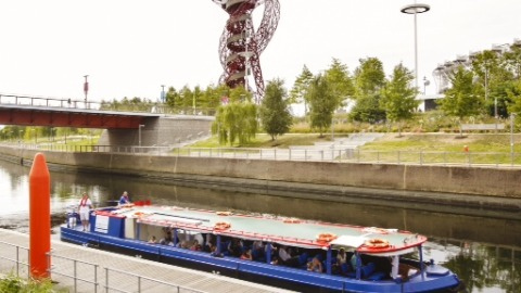 Boat rides at The Queen Elizabeth Olympic Park  Pic:  Lee & Stort Boat Company