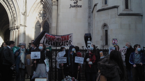 Stop the Incinerator campaign's peaceful protest. Pic: Giulia Sgarbi
