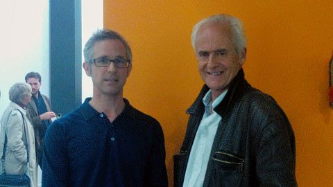 Des Freedman and Nick Davies after the event at Goldsmiths. Pic: Giulia Sgarbi