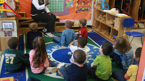 Many children receive free early childhood care. Pic: Wikipedia