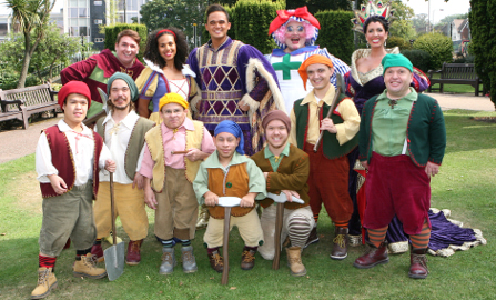 Cast of Snow White. Pic: Simon Emery