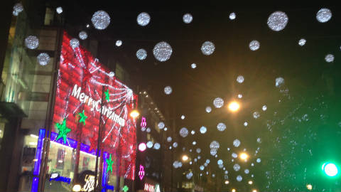 Oxford Street Christmas Lights. Pic: Jazmin Kopotsha