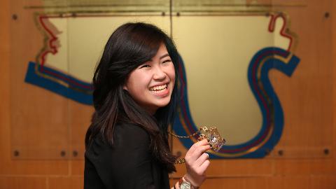The new Young Mayor of Tower Hamlets: Deng Yan san. Pic: Tower Hamlets Council