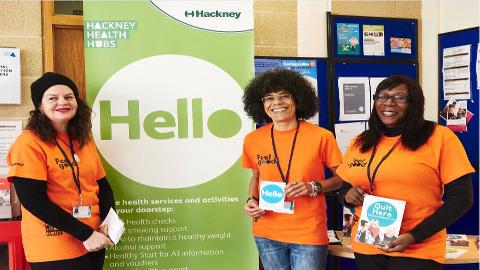 Health coaches at Hackney Health Hubs. Pic: Hackney Council