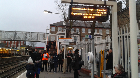 Passengers using Southeastern Overground train services face another day of delays and cancellations. Pic: Anna Shlyakhtenko.