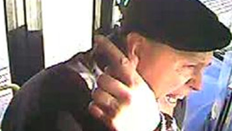 Police are searching for the identity of this man who they believe attacked the bus driver. Pic: Metropolitan Police.