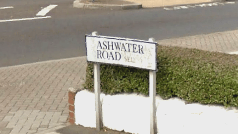 Ashwater Road, Lee, where the rape allegedly took place. Pic: Google Maps