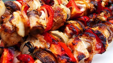 Shish kebabs. Pic: Robert