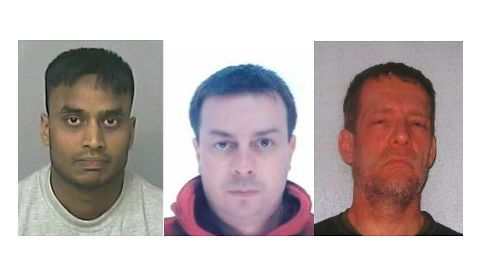 From left to right: Mohammed Jahangir Alam (32), Anthony Dennis (47), and Carlo Dawson (52).