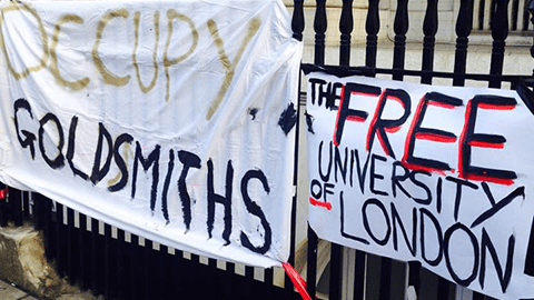 """Students occupy Deptford Town Hall over Goldsmiths """"mismanagement."""" Pic: Toby Rodham"""