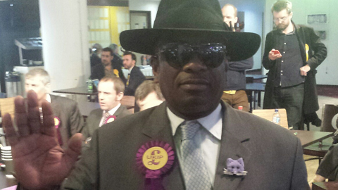 Winston McKenzie, UKIP candidate for Croydon North. Pic: Oliver Imhof