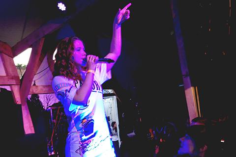 Singer Katy B. performed at Kopperberg Urban Forest Pic: Caitlin Burns