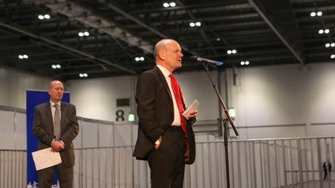 New Tower Hamlets mayor John Biggs during his acceptance speech. Pic: Kara Fox
