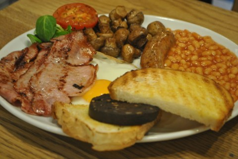 Feast London delivers the Traditional English Breakfast on a plate which customers get to keep   Pic: Feast London