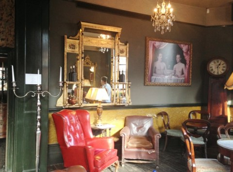 The lounge bar has maintained its Victorian look  Pic: Joyeeta Basu