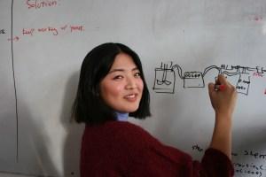 Lena Asai at Biohackspace. Pic: Jennifer Hahn.